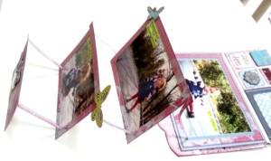 J'en ai profité pour scrapper à nouveau ma pépette. Les couleurs des photos allaient bien avec le combo couleur des collections du kit.