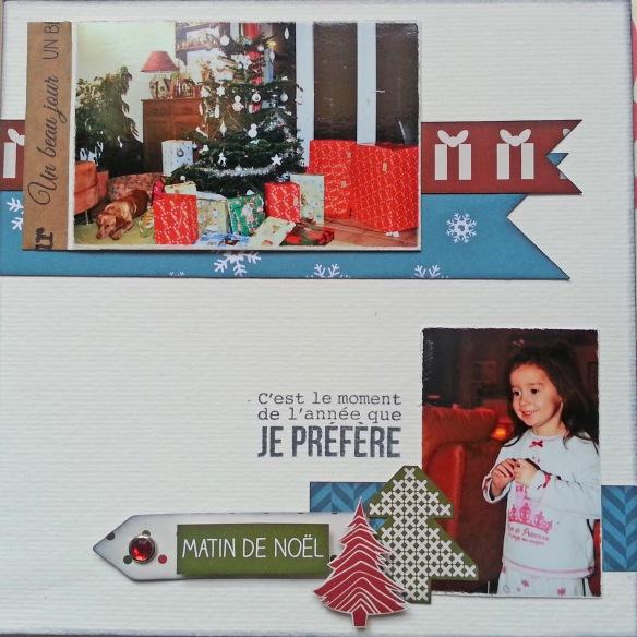 Kraft gommé Un beau jour (RKG-I-0017) Attache parisienne rouge cristal (APC-0004) découpe étiquette flèche Tampon de la planche Mon beau sapin (LTM-0212)