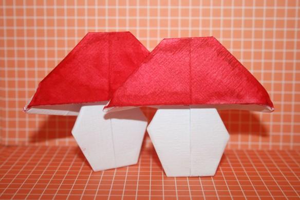 Champignons en origami