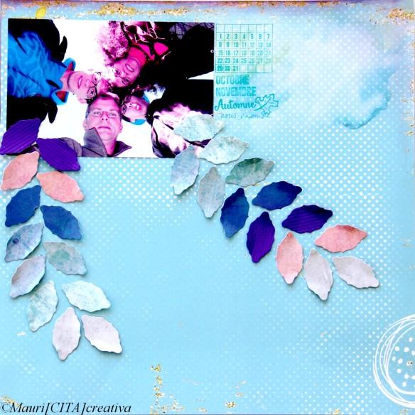 Papiers BL Faux Unis BLFU 02/03/04/12 - Texturé Violet, Tendrement, Dies DU-L-0012, Tampons S'organiser LTMO336